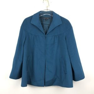 New Lafayette 148 Lori Piana Blue Cashmere Jacket